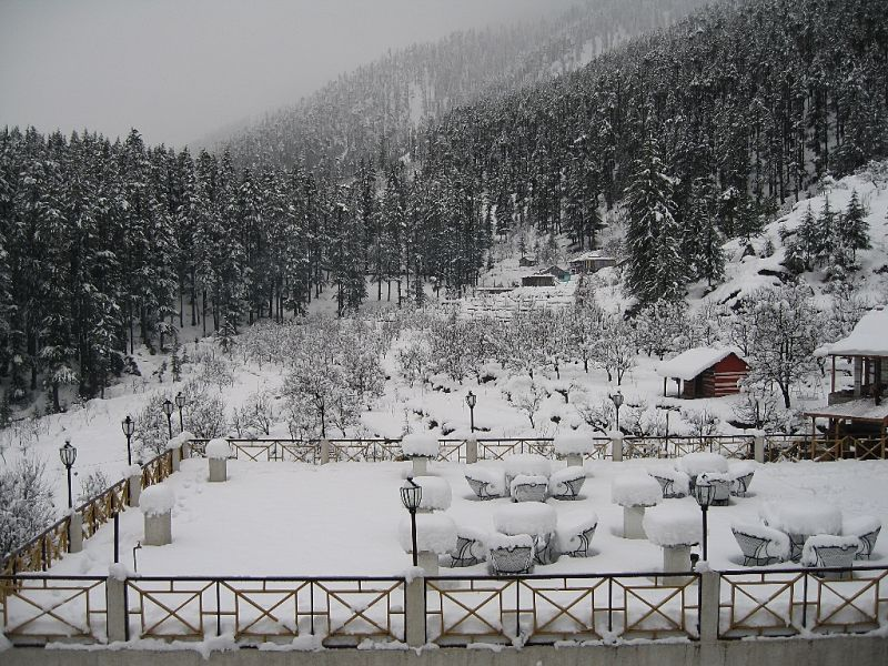 manali snow fall