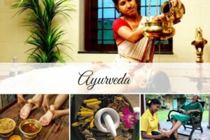 collage of ayurveda treatment