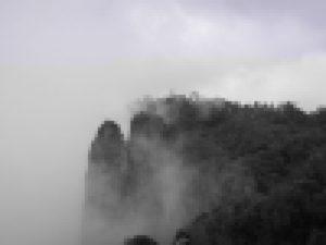 kodaikanal pillar rocks covered in clouds