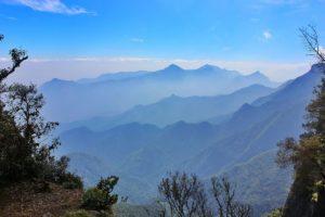 several mountains, dawn, kodaikanal