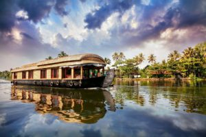 boat on a river of kerala