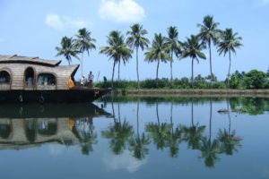 house boat on river in kerala
