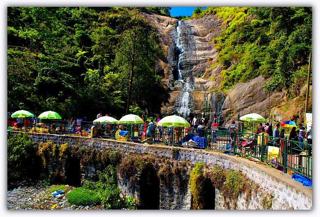 people, kodaikanal waterfalls