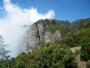 pilar rock, cloud passing through the rock