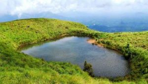 a lake surrounded by greenery in wayanad