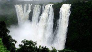 a big waterfall