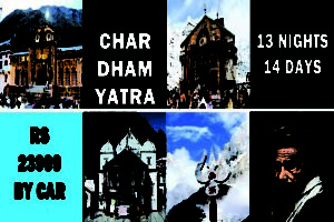 picture of char dham and an yogi