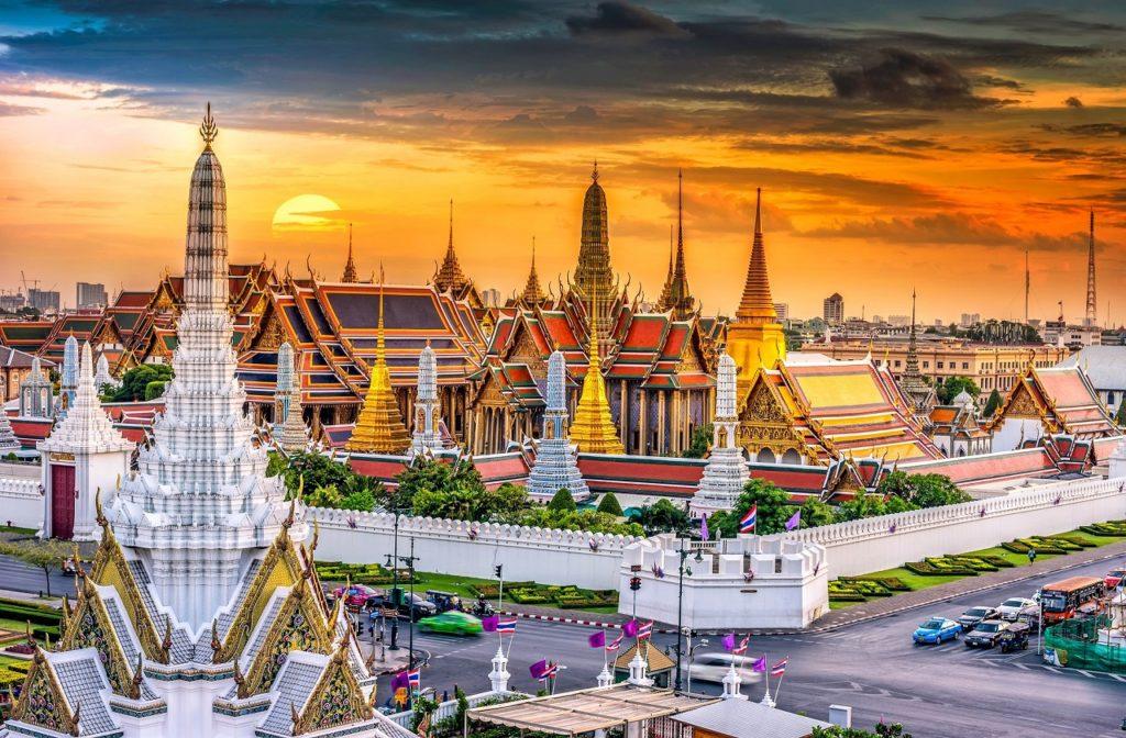 street, traffic, temples