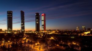 four skyline buildings in spain