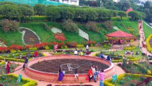 people enjoying a beautiful garden park