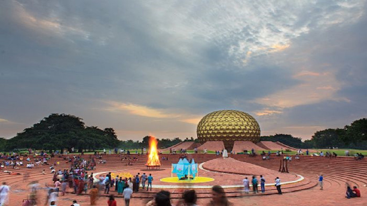 gathering of crowd matrimandir