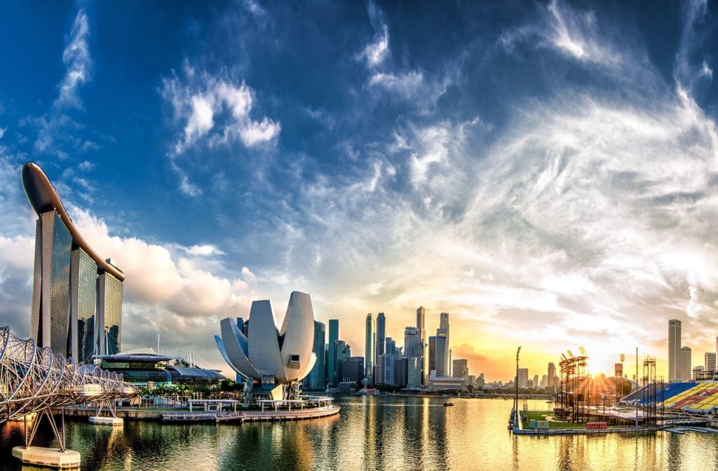 city of singapore in the morning