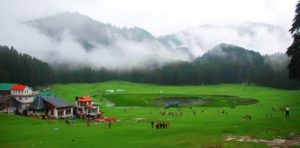 cloud covered mountain, people enjoying the view of dharamshala