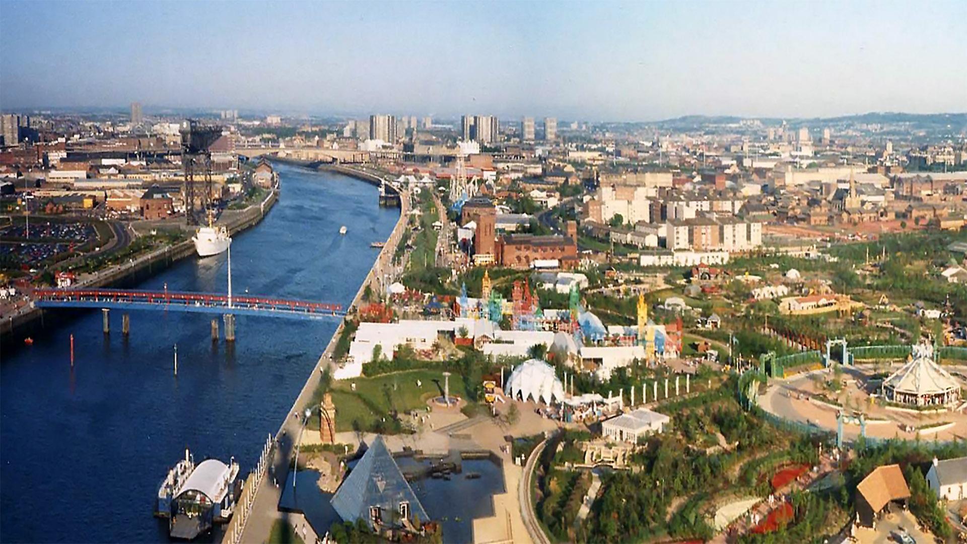 skyline view of england city