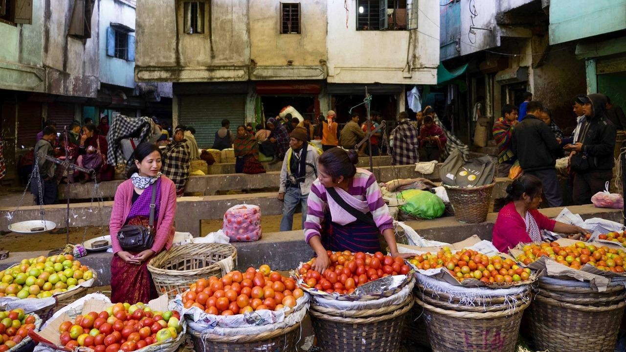 an apple market