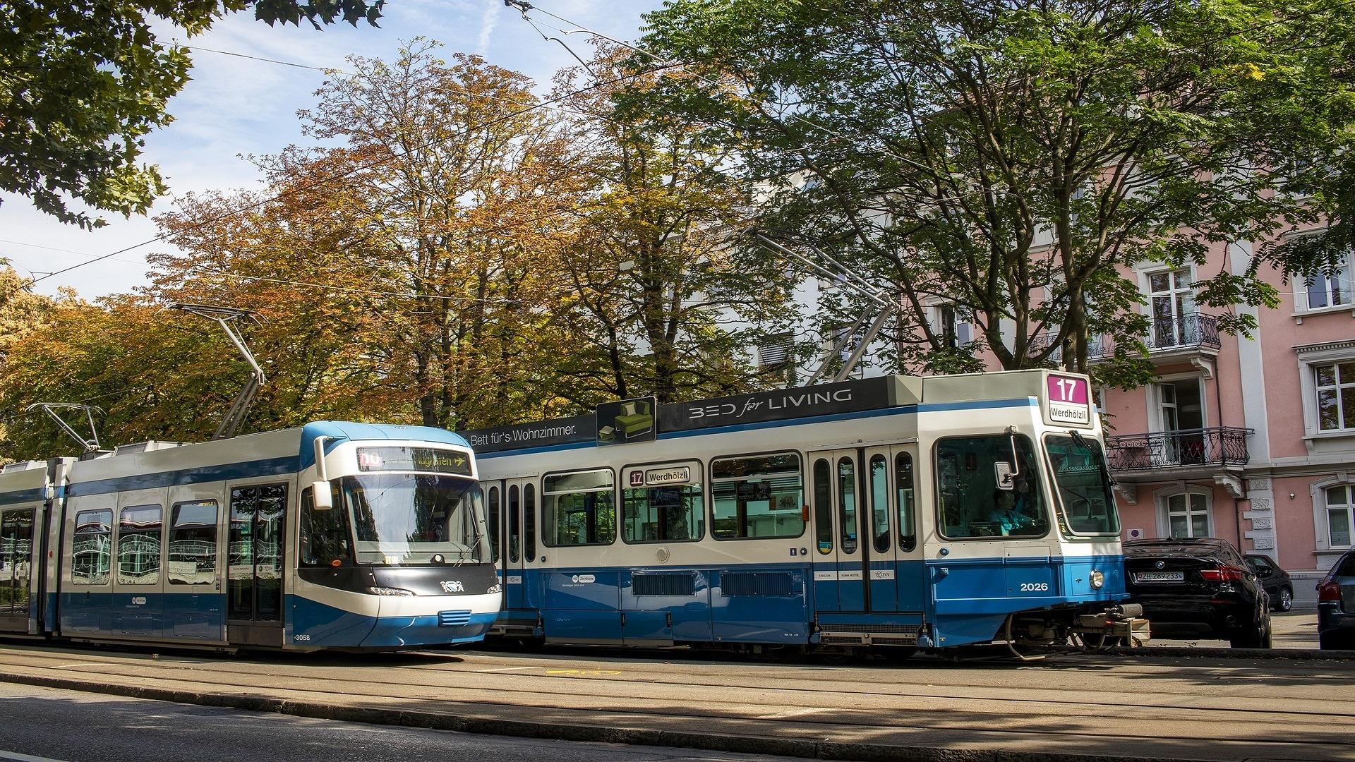 tram in the street