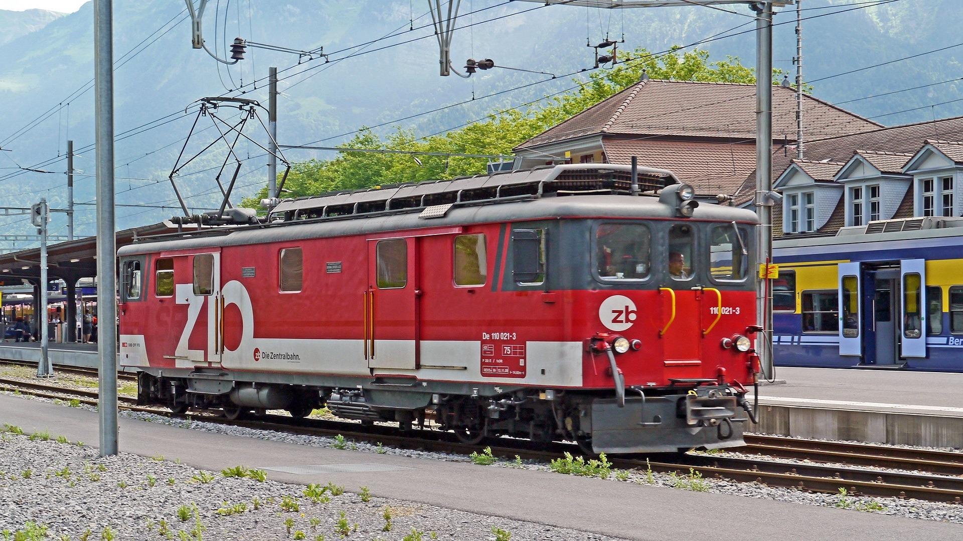 rail car leaving the platform