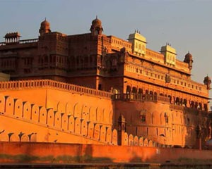 side view of a fort in rajasthan