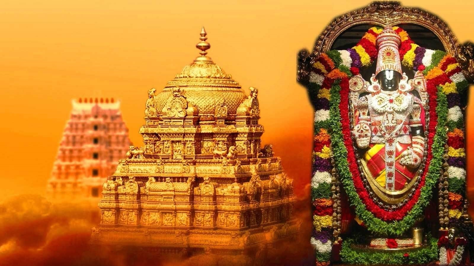 two temples with tirupathi statue