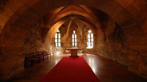 an inside of a church