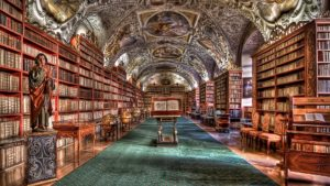 an ancient library
